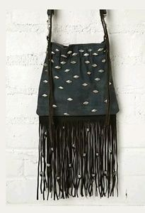 Free People crossbody faux leather stud bag